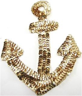 "Anchor Gold Sequins 7.5"" x 5"""
