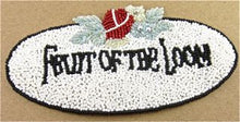 "Load image into Gallery viewer, FRUIT OF THE LOOM Word Patch 6"" x 3"""
