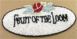 "FRUIT OF THE LOOM Word Patch 6"" x 3"""
