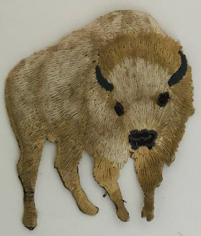 "Buffalo Embroidered Iron-On 3"" x 2.5"""