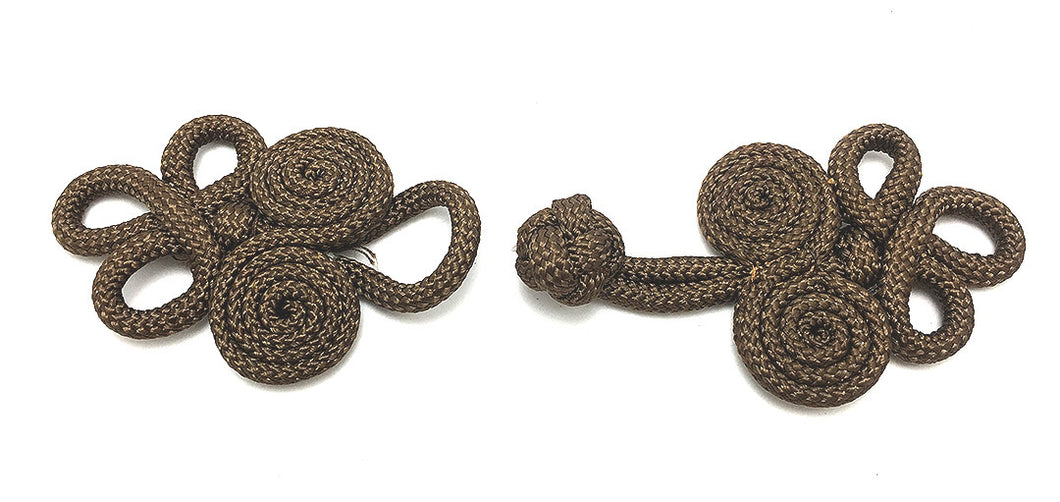 Frog Closure Chocolate Brown Soft Cloth Rope 4
