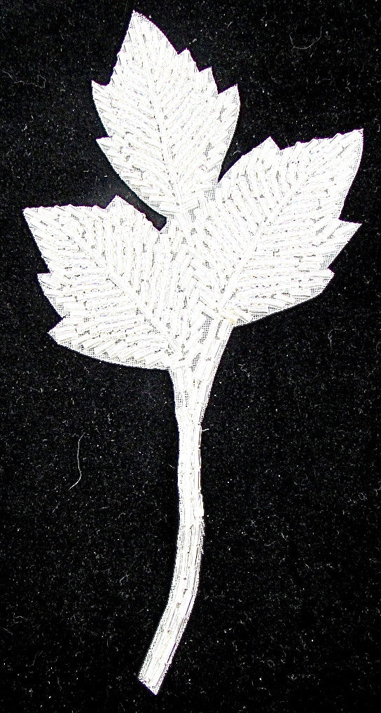Leaf with Iridescent Beads 6