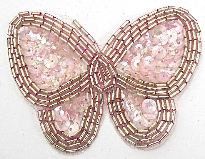 "Butterfly Pink with Silver Trim 2.5"" x 3.5"""