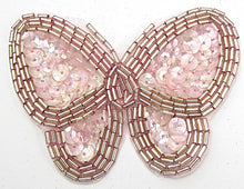 "Load image into Gallery viewer, Butterfly Pink with Silver Trim 2.5"" x 3.5"""