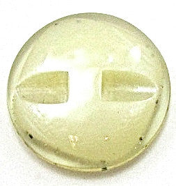 Button Lime Glass with Flecks of Black and Gold 7/8""