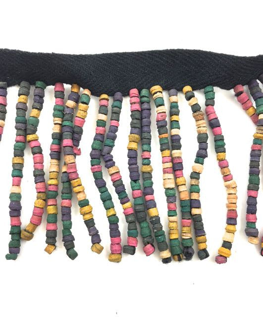 Trim Fringe with Multi-Colored Wooden Beads 2