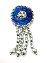 "Load image into Gallery viewer, Epaulet Circle Southwestern Style Choice of Color Sequins with Silver Beads 3.5"" x 1.75"""