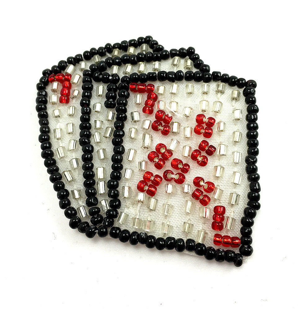 "10 PACK Playing Cards Three of a Kind Tiny Beaded Applique 1.5"" x 2"""