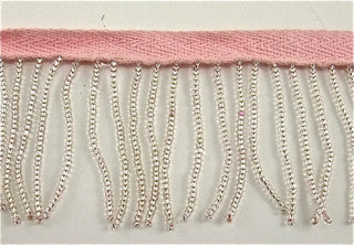 Trim Fringe with Pink Small Beads 2""