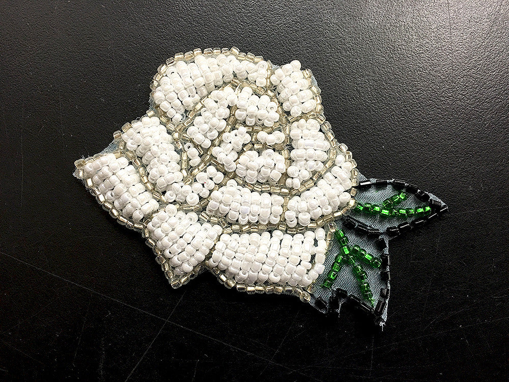 Rose,  White, All Beads  2