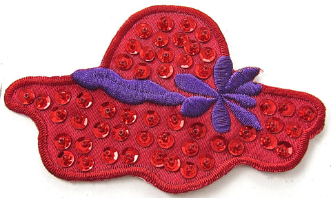 "Hat Red and Purple Band 2.25"" x 4"""