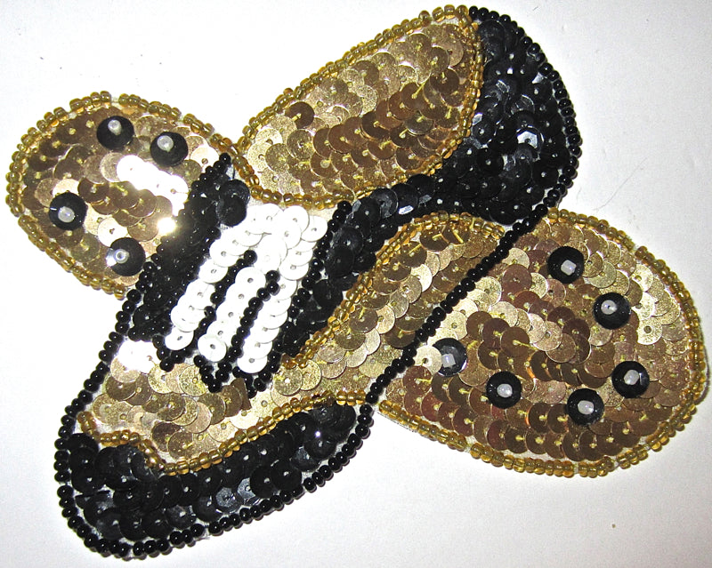 "Golf Shoe Pair, Choice fo Color, Sequin Beaded   3.5"" x 4.5"""