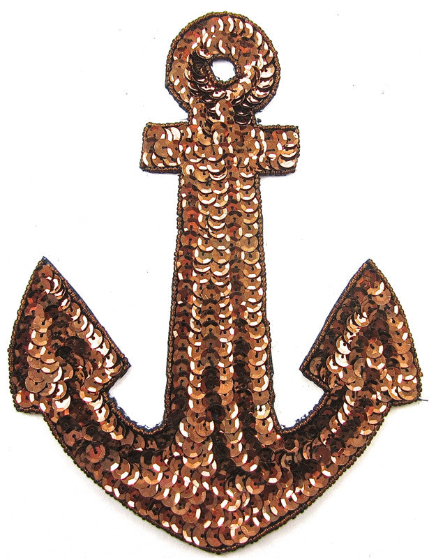 "Anchor Bronze  Sequins and Beads 7.5"" x 5.5"" - Sequinappliques.com"