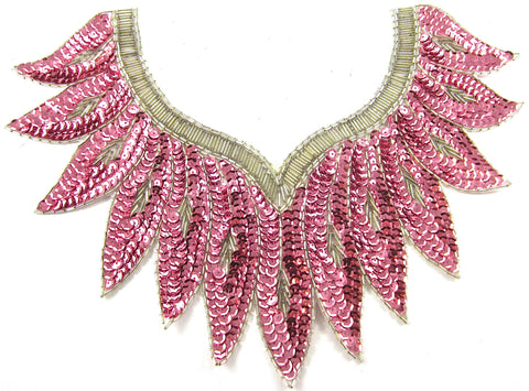 "Designer Neckline with Feather Sequins 9"" x 12"""