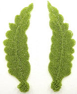 Leaf Pair with Lime Beads