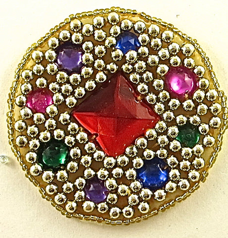 10 PACK Jewel with Beads and Gems 2.5""