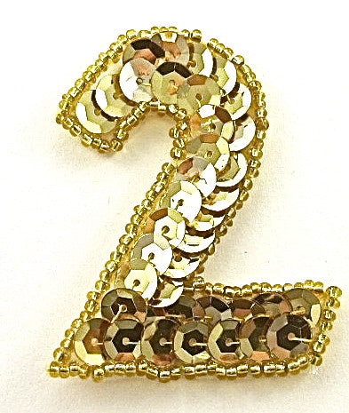 "Number Two Gold 2"" x 1.75"