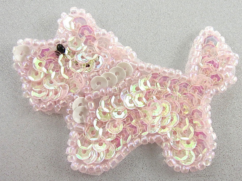 "Pink Small Custom Scottie Dog 1.5"" x 2"""