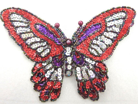 "Butterfly Bright Shiney Laser Sequins and Beads 4"" x 6.25"