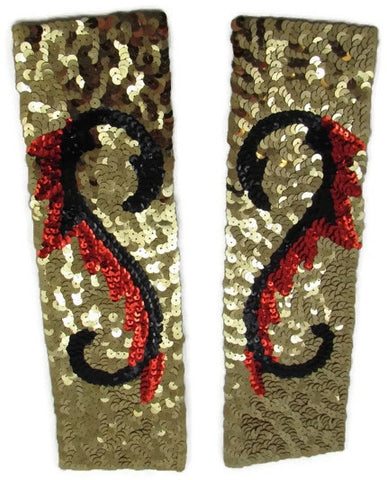 "Designer Motif Pair of Cuffs for Costumes 3.5"" x 11.5"""