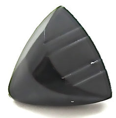 Button Black Triangle with Grooves 1""