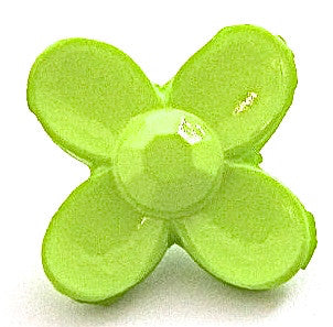 Button Lime Green Flower 3/4""