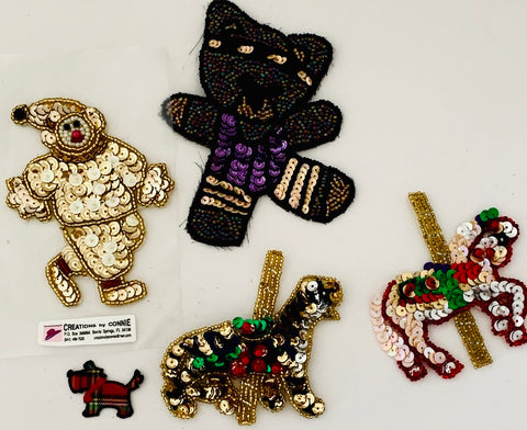 Assorted Appliques Animal Theme