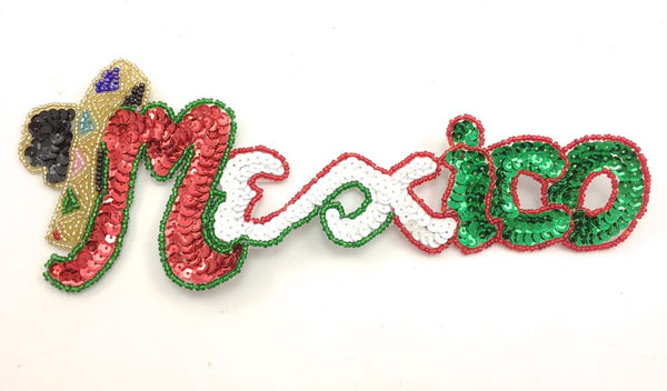 Mexico Word With Multicolored Sequins And Beads 3 5 Quot X 9