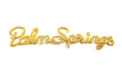 "10 PACK Embroidered Palm Springs Iron-on  0.5"" x 3.5"" - Sequinappliques.com"