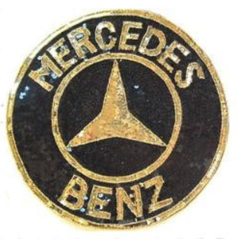 Mercedes Benz Patch Gold and Black Sequins, Gold Beads 12""