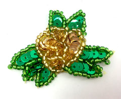 Tiny Flower Choice of Color Sequin Beaded  1.5""