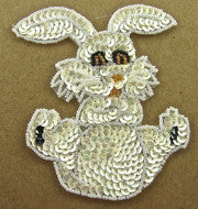 Rabbit White Sequins and Beads
