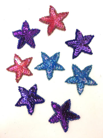 Star Assortment, Sequin Beaded, 1.5""