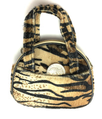 "Mini Purse or Change Pouch Choice of Animal Print with Side Pockets, Felt  3.5"" x 4.5"" x 1.5"""