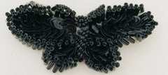 "Butterfly all Beaded Black and Moonlite choices of Colors 2.5"" x 1"""