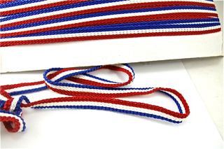 Trim Three Rows of Red White and Blue Cotton  1/2' W