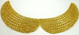 Designer Motif Collar Gold Beads