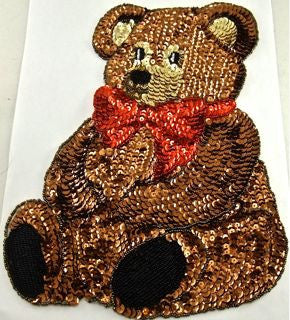 "Bear Teddy with Red Bow 7.5"" x 9.5"""