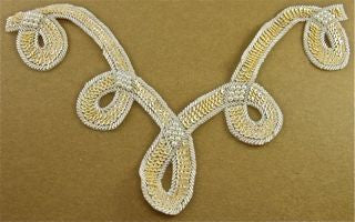 Designer Motif Looped Neck Line with Beige Sequins