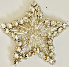 Load image into Gallery viewer, Star With High Quality Rhinestone and Beads 2.5""