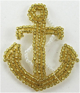 "Anchor Gold Beads 2"" x 1.5"" - Sequinappliques.com"