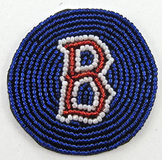 Patch with Boston Red Socks Letter B all Beads 2.25""