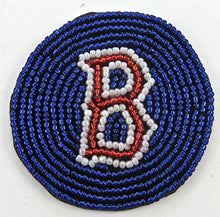 Load image into Gallery viewer, Boston Red Socks Patch or Bingo chip Letter B all Beads 2.25""