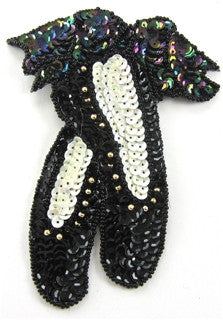 Ballet Slippers with Moonlite Gold Sequins And beads 5