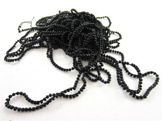 Beads A String of Black Beads  oz 3MM