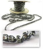 Load image into Gallery viewer, Beads Charcol Sold by the Yard