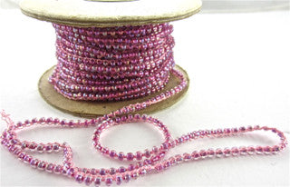 Beads on a String Pink Sold by the Yard 3mm