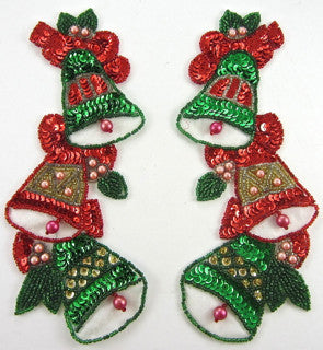 "Bells Pair with Three Bells Each 8"" x 3"""