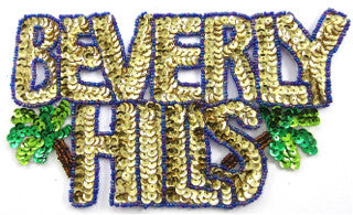 "Beverly Hills with MultiColored Sequins and Beads 4"" x 7"""