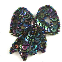 "Load image into Gallery viewer, Bow with Moonlite Sequins and Beads, 2.5"" x 2"""